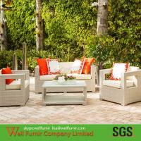 Quality Supply 4-PC Rattan Lesiure Sofa, Wicker Conversation Sofa, White Sand Sofa, Manufacturer wholesale
