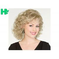 Cheap 30CM Short Wave Party Synthetic Hair Wigs Blond Cosplay Hair Wigs for sale