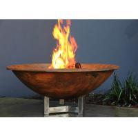 Cheap Rusty Finish Corten Steel Fire Bowl , Round Steel Fire Pit Corrosion Stability for sale
