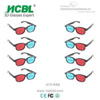 Cheap Plastic Red Cyan Blue 3D Glasses Anaglyph For Passive 3 D Films for sale