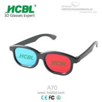 Cheap Black ABS frame Anaglyph 3D Glasses Red Blue For TV  / Cyan 3D Glasses for sale