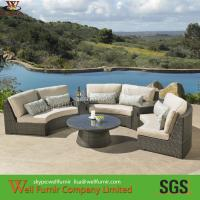 Cheap Supply Half-Circle Rattan Sectional Sofa, Rattan Wicker Sofa, Chinese Manufacturer for sale