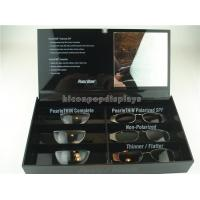 Black Acrylic Sunglasses Display Case Countertop Visual Glasses Store Display Showcase