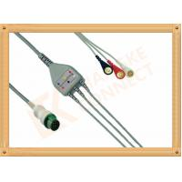 Cheap Mindray ECG Patient Cable 12 Pin For T5 and T8 3 Leads Snap AHA for sale