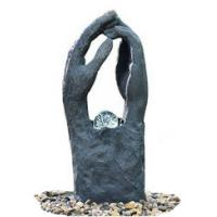 Cheap Modern Garden Fountains / Decorative Indoor Water Fountains In 2 Hands Shape for sale
