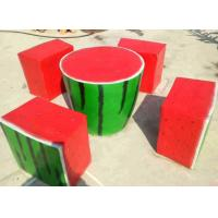 Buy cheap Watermelon shape fiberglasses made dinning table chair set from wholesalers