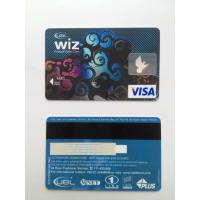 Cheap Bank's visa smart card with hico - magstripe and standard hologram for sale