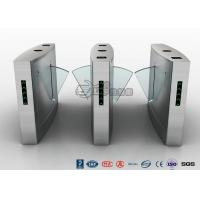 Cheap Fingerprint Reader Turnstile Barrier Gate , Acrylic Flap Barrier Turnstile for sale