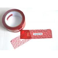 Cheap Digital Russia Red Security Tape Provides Maximum Security With Perforation for sale