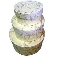 Cheap round shaped garland packaging with transparent cover for sale