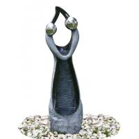 Cheap Stone Color Statue Water Fountains , Decorative Garden Fountains For House for sale