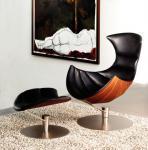 Cheap Hjellegjerde Lobster Fiberglass Arm Chair Leather Leisure Modern Design for sale