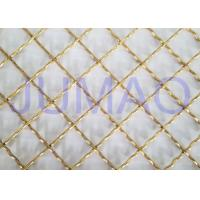 Brass Plated Decorative Wire Mesh Cabinet Inserts For Entertainment