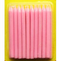 Cheap Light Pink Color Glitter Birthday Candles 20pcs For Girls Party / Valentine's Day for sale