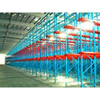 Cheap Single Entry Selective Pallet Racking With Single / Double Stacked Pallets for sale