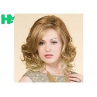 Cheap Blond High Temperature Fiber Side Part Wave Synthetic Hair Wigs For Women for sale