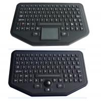 Cheap Stand Alone Industrial Illuminated Keyboard With Trackball Black Color for sale