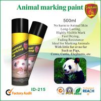 Buy cheap Heat resistant spray animal marking paint with green / violet ink colors from wholesalers
