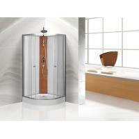 Cheap Custom Quadrant Sliding Door Shower Cubicles , Curved Shower Glass Enclosure for sale