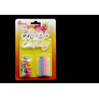 Cheap Spiral Birthday Candles With Plastic Flower Holder for sale