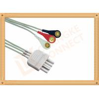Cheap White 3 Leads Nihon Kohden Ecg Cable ECG Lead Wires Cable 0.8M for sale