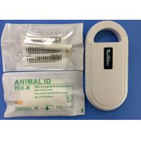 Cheap RFID ISO Transponder Microchip 6 Stickers With Reusable Injector 2.12*12mm for sale
