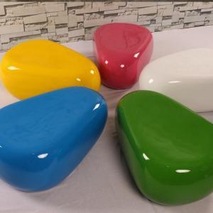 Buy cheap Fiber glasses made shopping mall men rest seating lovely stool from wholesalers