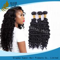 Cheap Natural Black Virgin Hair Extensions Kinky Curly , Malaysian Curly Hair Weave No Damage for sale