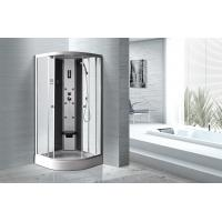 Cheap Matt Silver Profiles Curved Glass Shower Enclosures , Enclosed Shower Cubicles for sale