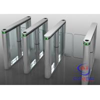 Cheap RFID card fingerprint reader Swing Barrier Gate for Residence and office building for sale
