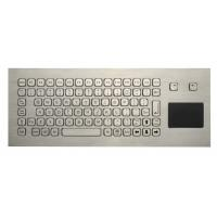 Cheap 85 Keys Washable Ruggedized Keyboard , Stainless Steel Keyboard With Touchpad for sale