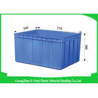 Cheap Recycle Industrial Plastic Containers , Standard Euro Stacking Boxes Eco-Friendly for sale