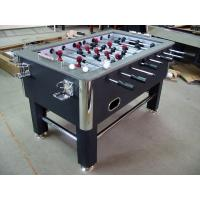 Standard Soccer Game Table PVC Lamination With Leather Top Rail Steel Leg