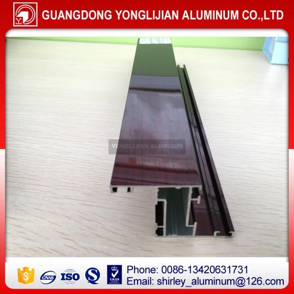 Wood grain printing window and door aluminium profile China