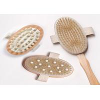 Cheap 3 Detachable Heads Long Handled Body Brush With Rubber Nubs , Eco Friendly for sale
