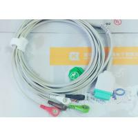 Cheap Gray Color GE One Piece Ecg Patient Cable For Patient Monitoring Devices for sale