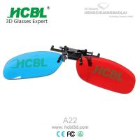 Quality Clip On Complementary Colorful Anaglyph 3D Glasses / Eyewear Disposable 140* 42mm for sale