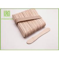 Cheap Disposable Lolly Pop Ice Cream Wooden Sticks , 114mm Natural Wooden Sticks for sale