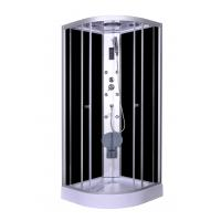 Cheap Steam Massage with Electronic computer panel Circle Quadrant Shower Cabin with white acrylic tray and roof for sale