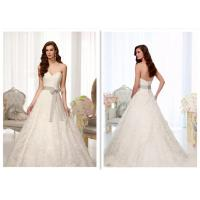 Real Pictures Alluer A Line Dress Wedding Gown , Fitted Ball Gown Wedding Dress