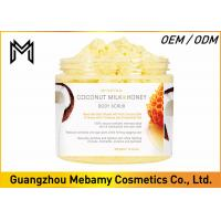 Cheap Deep Exfoliating Skin Care Body Scrub Coconut Milk / Honey Comb Reduces Oiliness for sale