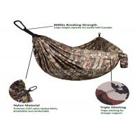 Cheap Portable Lightweight Double Camping Hammock , Camouflage Army Surplus Jungle Hammock Camo for sale