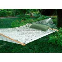 Quality Backyard Comfortable Deluxe Polyester Rope Hammock Bright White including Two Tree Hooks wholesale
