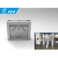 Cheap 110V Autoamtic Card Reader Tripod Access System , Airports Stainless Steel Turnstiles for sale