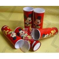 Cardboard Pen Gift Boxes Paper Cylinder Box Micky Mouse Carton Pattern