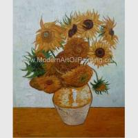 Countryside Vincent Van Gogh Oil Paintings Sunflowers with Vienna Gold Leaf 20 x 24 inches