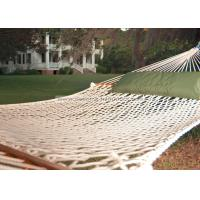Quality Lightweight Bright White Soft Spun Polyester Rope Hammock W Stand For Family Leisure Time wholesale