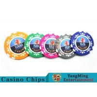 Cheap High Precision Casino Poker Chip Set / Poker Table Set For Gambling Games for sale