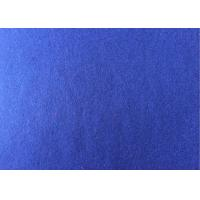 60wool40ployster sapphire blue  Color plain  Melton Wool Fabric for women