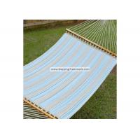 Quality Weather Resistant Single / Two Person Hammock With Spreader Bar And Stand Ocean Stripe wholesale